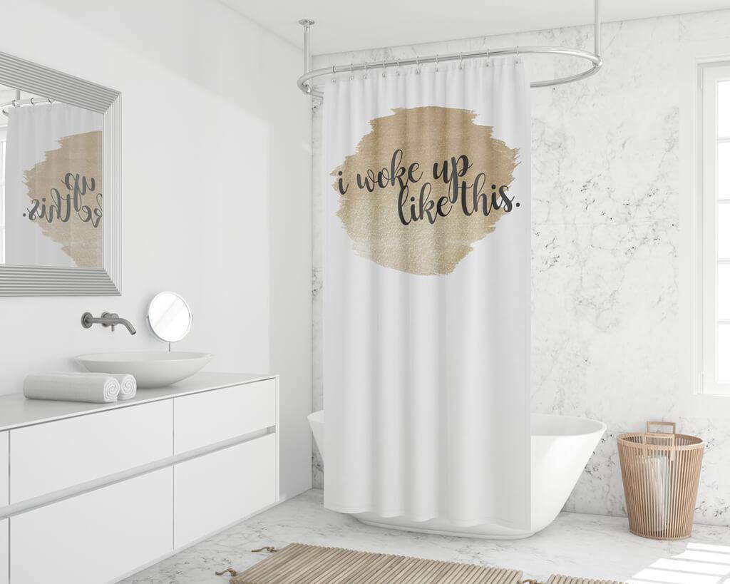Duschvorhang online bedrucken waschbar pflegeleicht