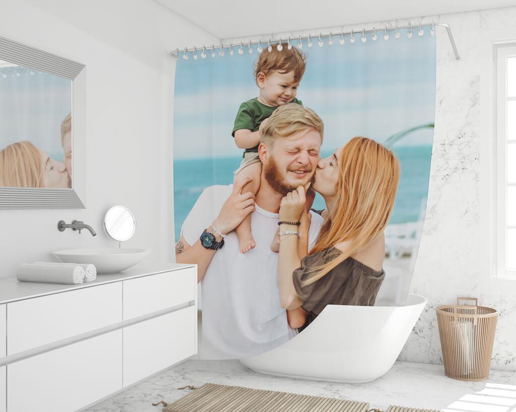 Duschvorhang online drucken Polyester