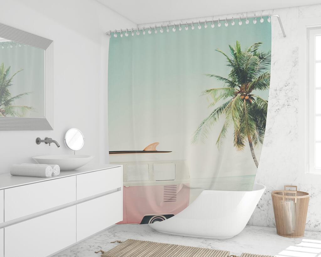 Duschvorhang online drucken waschbar