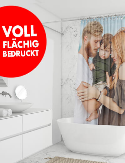 Duschvorhang online drucken 60 x 170 cm