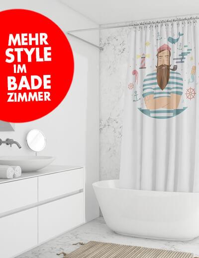 Duschvorhang online drucken 80 x 180 cm