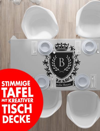 Individuelle Tischdecke online bedrucken festliche Tafel