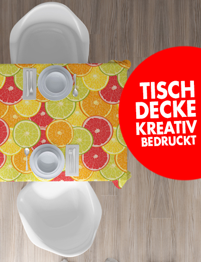 Tischdecken online kreativ bedrucken