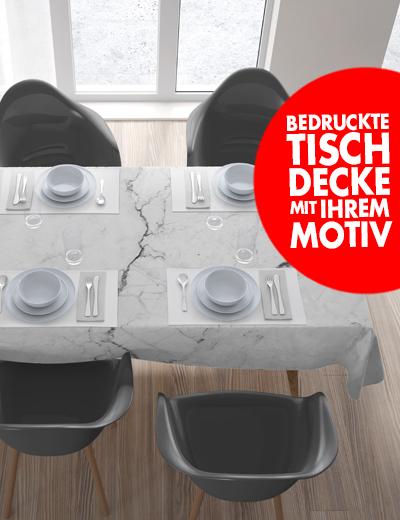 Eigene Tischdecke online bedrucken