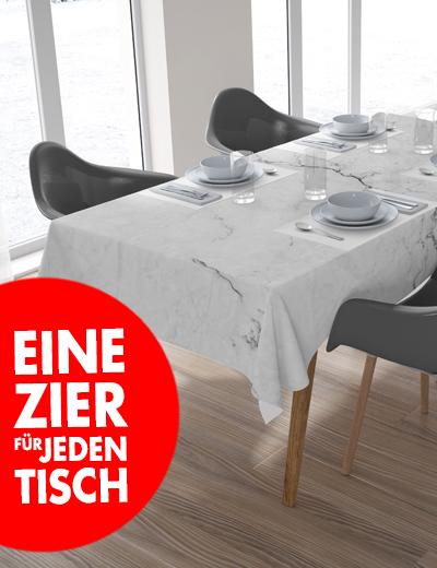 Eigene Tischdecke online drucken Accessoire Wohnung