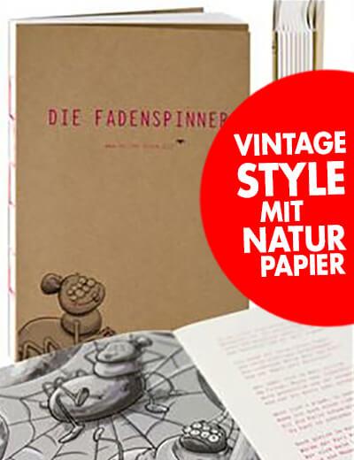 Buch Offene Fadenbindung Naturpapier online drucken