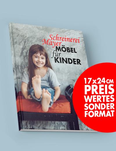Fotobuch Sonderformat 17 x 24 cm online drucken