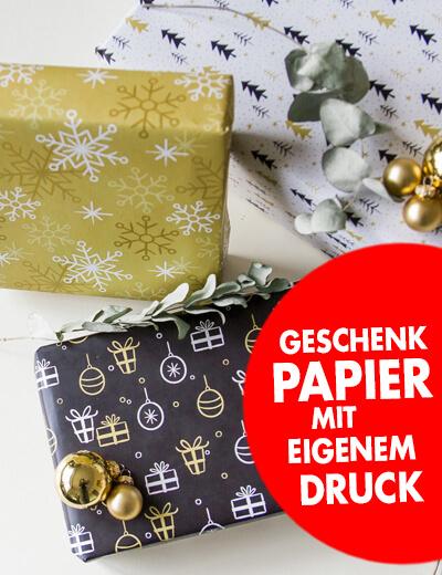 Online Geschenkpapier bedrucken 220 x 48 cm mit individuellem Motiv