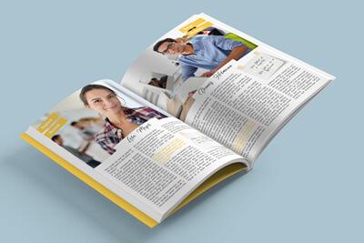 Abizeitung Softcover A5 online drucken Digital Offset
