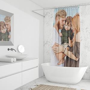 Fotogeschenke Duschvoerhaenge Handtuecher Kissen