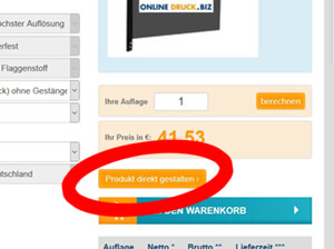 Beachflag online gestalten Link Designer