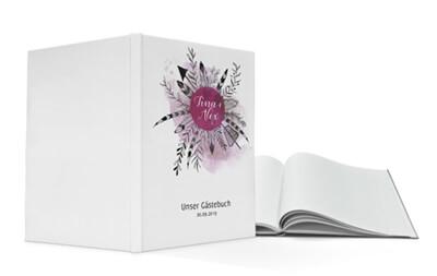 Gaestebuch Hardcover Hochzeit Boho online drucken