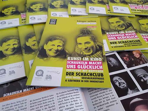 Hefte Broschueren Magazine A5 Rueckstichheftung digital Offset drucken