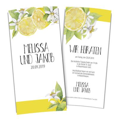 Hochzeitseinladung Karte Zitrone Trend online gestalten