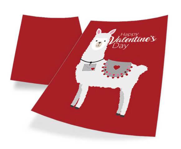 """Karte Alpaca online gestalten Valentinstag"""" title="""