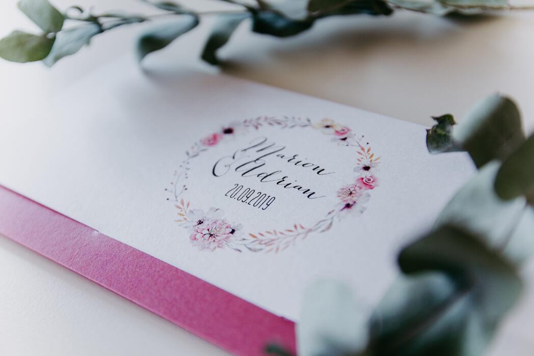 Klappkarte Briefumschlagoptik Hochzeit online erstellen