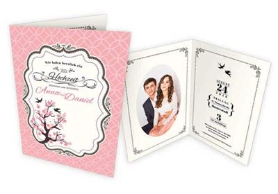 Klappkarten Vintage Einladung Hochzeit online gestalten