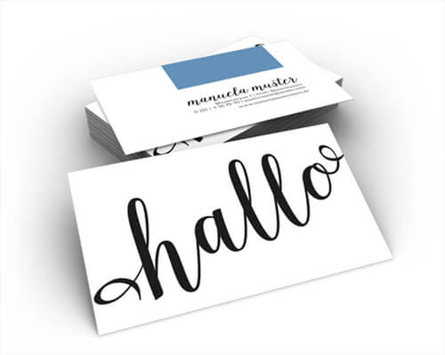 """Visitenkarten Typografie online erstellen"""" title=""""Erstellen Sie Ihre Visitenkarte im Typo-Stilkinderleicht online"""