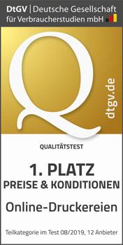 1. Platz Preise und Konditionen Online-Druck