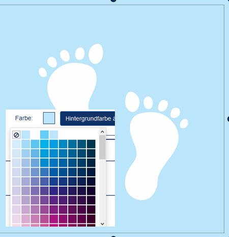 Geburtskarte in allen Farben