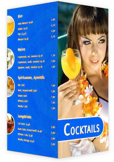 Cocktailkarte blau