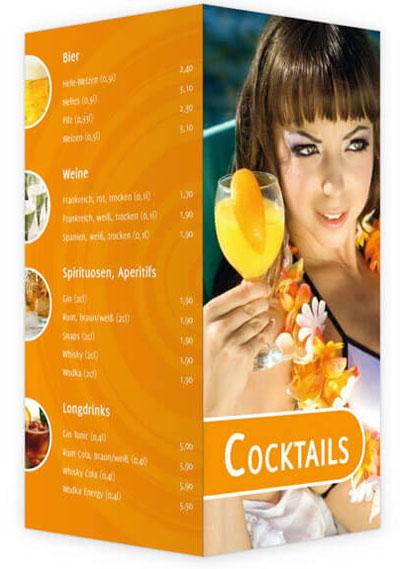 Cocktailkarte orange