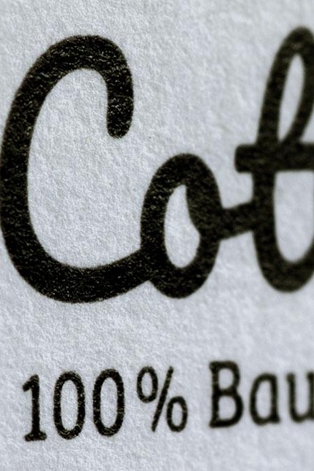 Cotton Papier Oberfläche