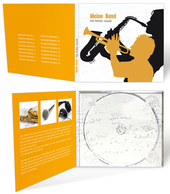 Digipack in Gold drucken