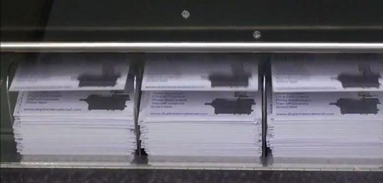Herstellung von Visitenkarten