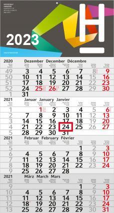 4-Monats-Wandkalender