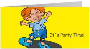 Super Vorlage für eine Einladungskarte zum Kindergeburtstag