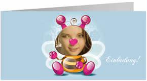 Kesse Biene: Super Einladungskarte zum Geburtstag einfach selbst gestalten