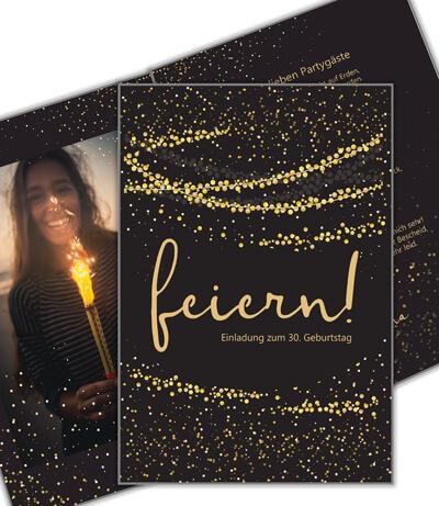 Einladungskarte 30. Geburtstag