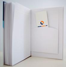 Business-Notizbuch fester Einband mit Einstecktasche