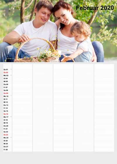 Foto-Familienkalender