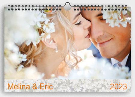 Kalender Hochzeit drucken
