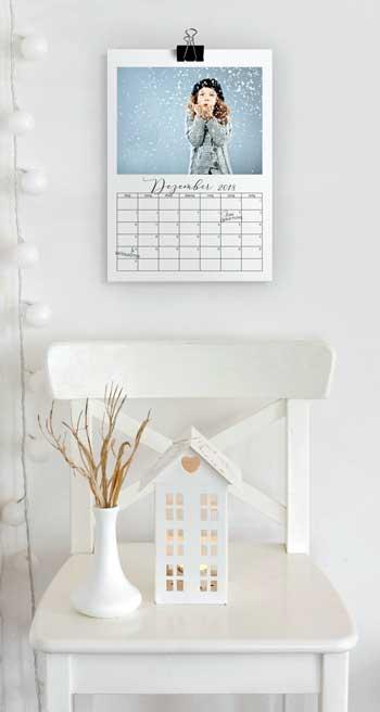 Fotokalender mit Klemmer sind cool