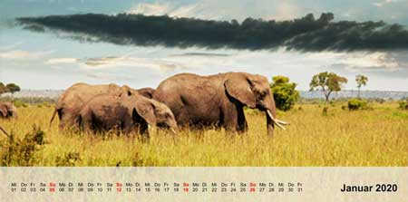 Fotokalender Panorama Layout 1