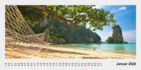 Fotokalender Panorama Layout 2
