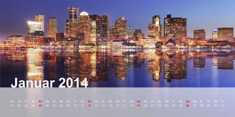Fotokalender Panorama erstellen