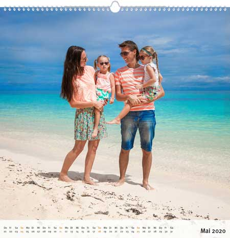 Fotokalender quadratisch erstellen