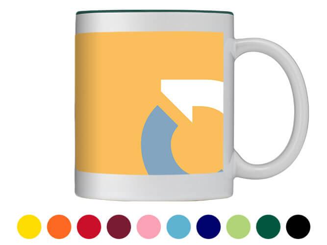 Fototasse innen und außen farbig bedruckt