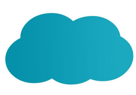Freiformschnitt einfache Wolke