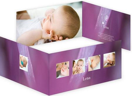 Klappkarte Einladungskarte Zur Geburt