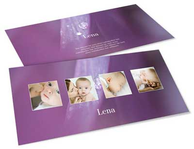 Geburtskarten viele Bilder