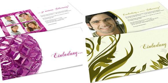 Einladung mit prägnanter Farbgebung