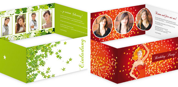 Einladungskarten Mit Frischen Farben