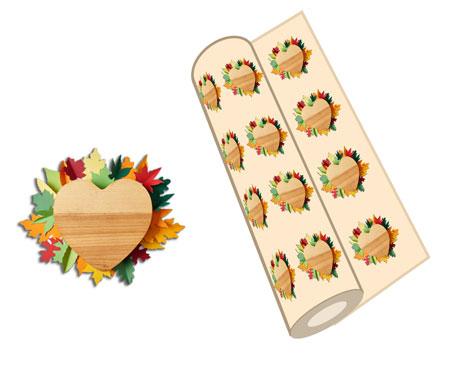 """Geschenkpapier aus Motiv Herbstbaum"""" title="""" Das Kinderbild Herbstbaum mit echten getrockneten Laubblättern ist das Ausgangsfoto für ein eigenes Geschenkpapier"""