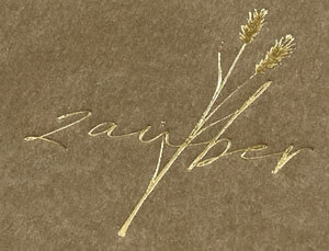 Heißfolienprägung Gold auf Holzschliffkarton