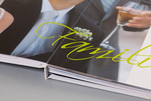 Hochzeitsbuch mit Fadenheftung